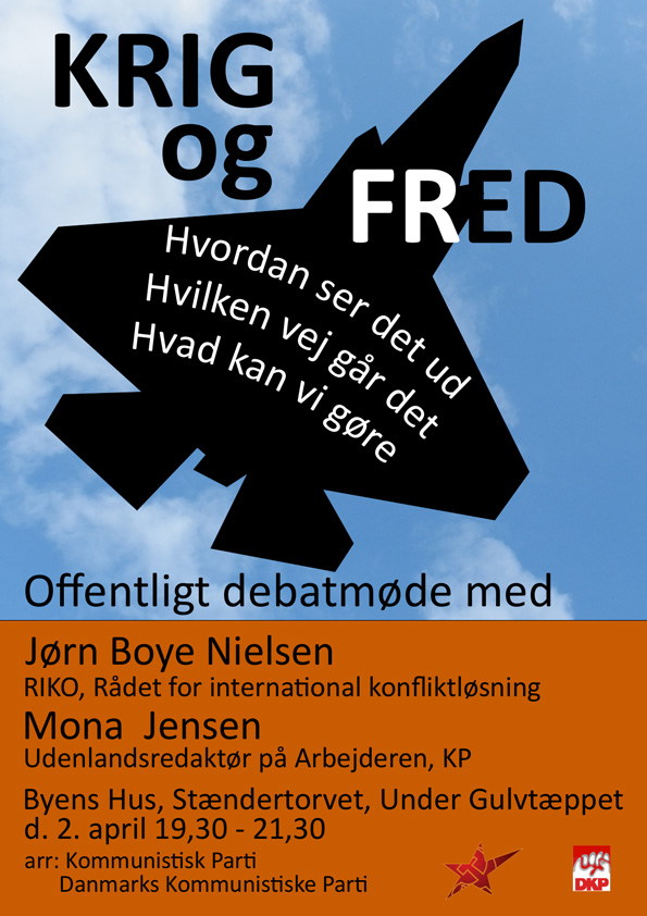 Plakat for debatmøde
